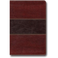 King James Hand Size Giant Print Reference Bible - Mahogany Leathertouch