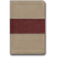 King James Hand Size Giant Print Reference Bible - Khaki/Rose Simulated Leather