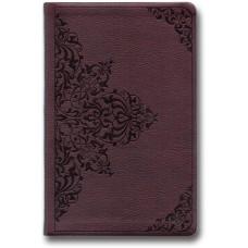 ESV Value Thinline Bible - Chestnut, Filigree Design