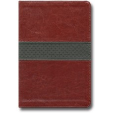ESV Large Print Thinline Reference Bible - Trutone, Walnut/Slate, Crossband Design
