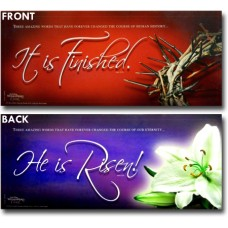 It Is Finished - He Is Risen (2-sided) - WitnessWord Card