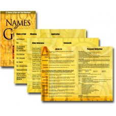 21 Names of God and Their Meanings - Pamphlet